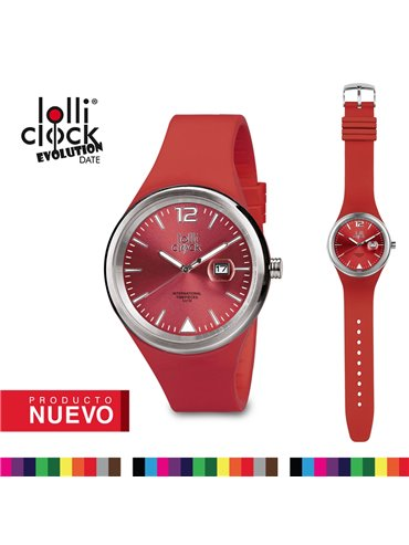 Reloj De Pulso Lolliclock Evolution Date - Rojo