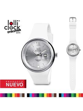 Reloj De Pulso Lolliclock Evolution Date - Blanco