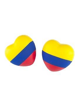 Corazon Antiestres En Poliuretano Tricolor Colombia - Tricolor