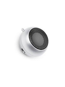 Altavoz Music Estereo Alta Fidelidad con Usb y Plug de Audio - Plateado