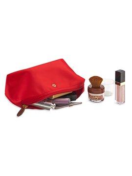 Cosmetiquera Venecia en Poliester Cierre en Broche - Rojo