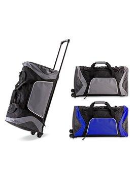 Trolley Bag Norris En Poliester 600D Con Bolsillo Exterior - Negro/Azul