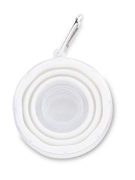 Pastillero Colapsible Silicone con Vaso Plegable Cap 100 Ml - Blanco
