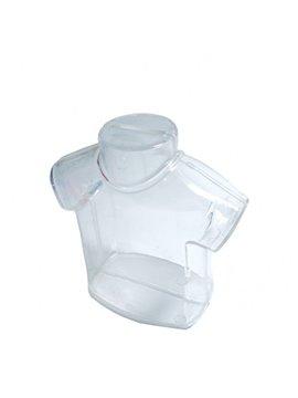 Alcancia Transparente Camiseta Elaborado en Plastico - Blanco