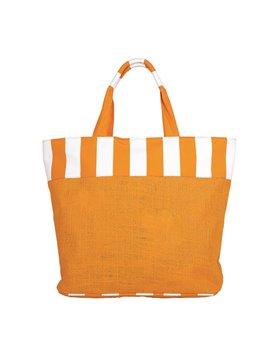 Tula Bolsa Bolso Mallorquin Elaborado en Yute - Naranja