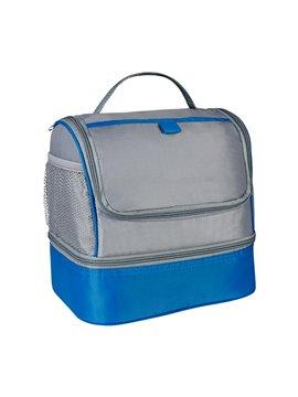 Bolso Nevera Lonchera Cooler Trendy Bolsillo Frontal - Azul