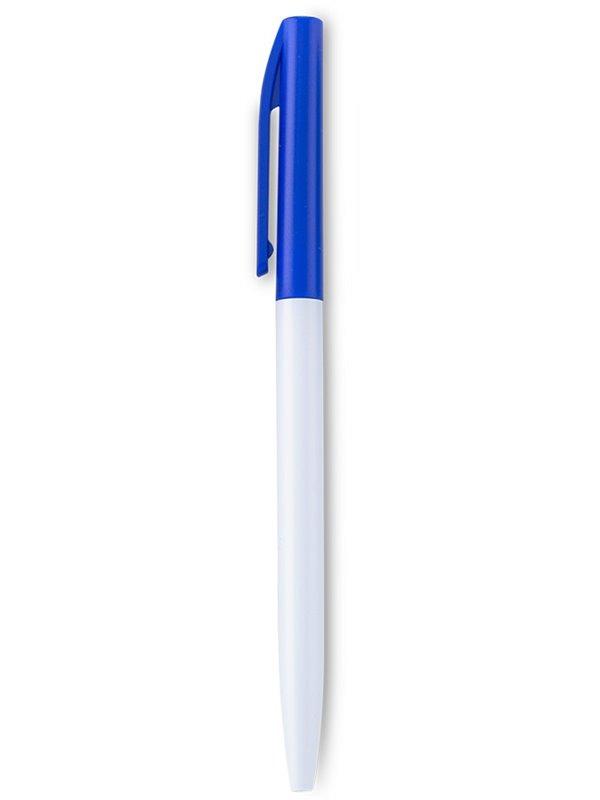 Esfero Boligrafo Ellison Cuerpo Blanco Twist - Azul Oscuro