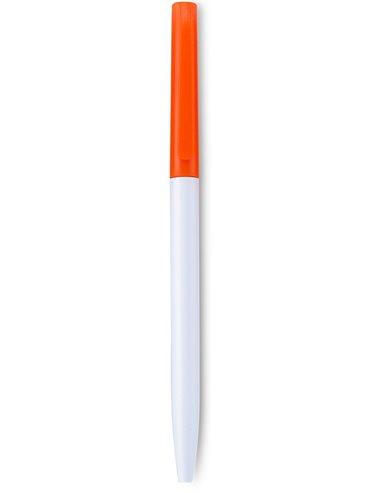 Esfero Boligrafo Ellison Cuerpo Blanco Twist - Naranja