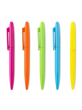Boligrafo Plastico Emory Neon Mecanismo Twist - Fucsia Neon