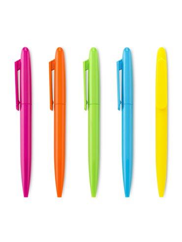 Boligrafo Plastico Emory Neon Mecanismo Twist - Naranja Neon