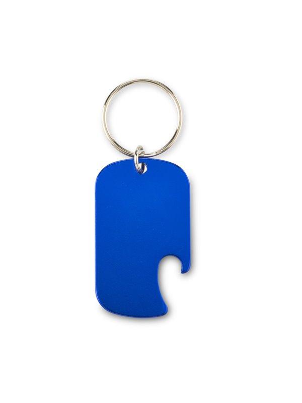 Llavero Destapador Metalico Rupert con argolla - Azul