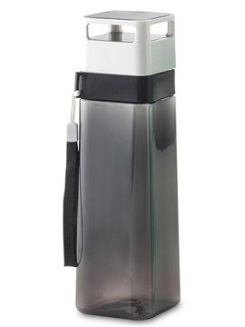 Botella Botilito Plastico Square 650 ml con cordon - Negro