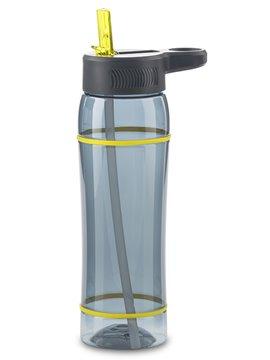 Botella Botilito en Tritan Clio 800 ml Tapa Pitillo - Negro-Amarillo