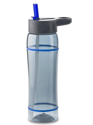 Botella Botilito en Tritan Clio 800 ml Tapa Pitillo - Negro-Azul