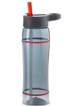 Botella Botilito en Tritan Clio 800 ml Tapa Pitillo - Negro-Rojo
