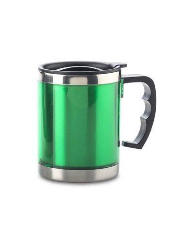 Vaso Mug Metalico Anton 450 ml con tapa - Verde
