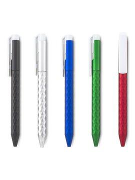 Esfero Boligrafo Nesta Plastico Sistema Push - Silver