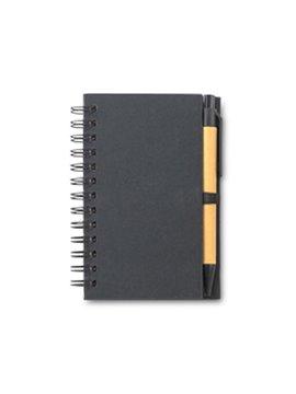Mini Libreta Cuaderno con Boligrafo Tavish 70 hojas - Negro
