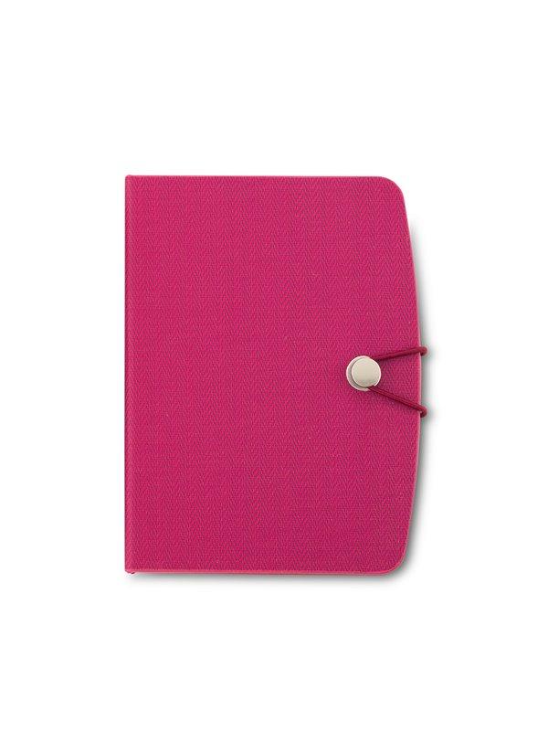Libreta Dermot con block de notas stickies Boligrafo - Rojo Fucsia