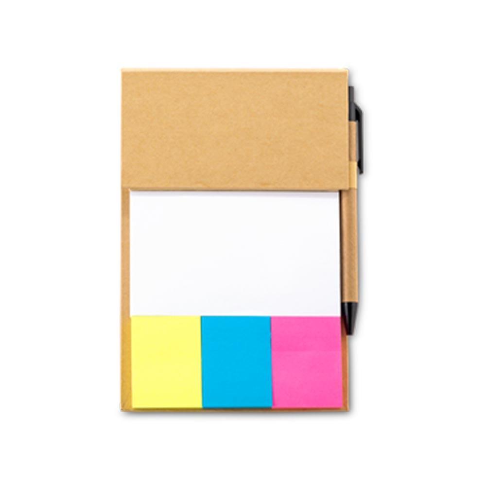 Set de Escritorio Sticky Office Notas Boligrafo - Natural