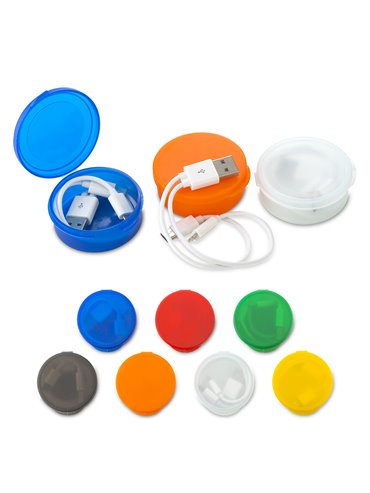 Cable Multicargador Round Entrada Iphone Micro 2 en 1 - Blanco