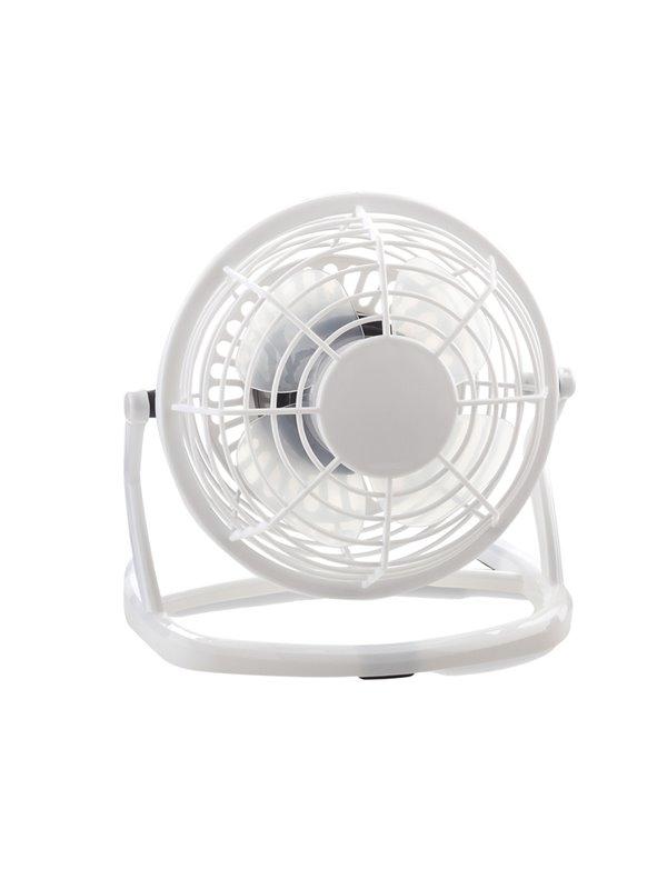Mini Ventilador Con Cable USB de Escritorio II - Blanco