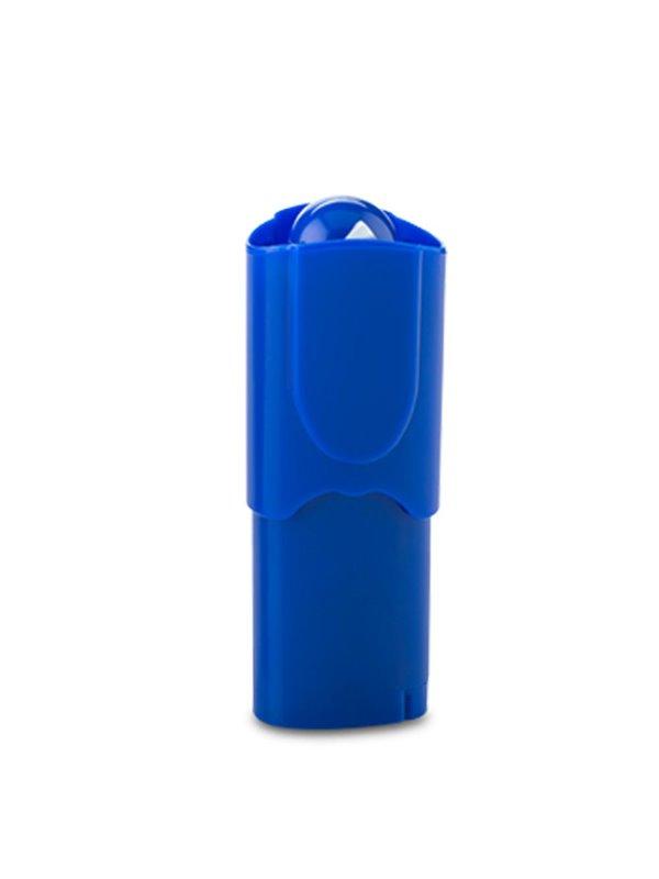Ventilador Tubular Plastico 2 Aspas Movible Portatil Slide - Azul