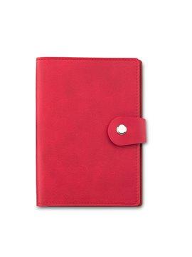 Portapasaporte Connor Block De Notas y 3 Bolsillos - Rojo