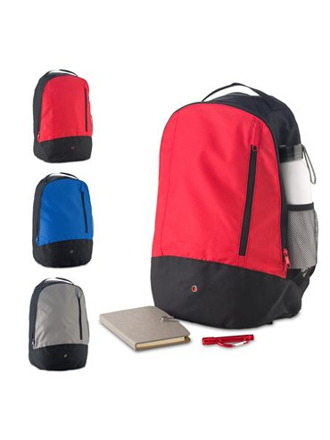 Maleta Morral Backpack Hamlin Poliester Bolsillo Externo - Rojo