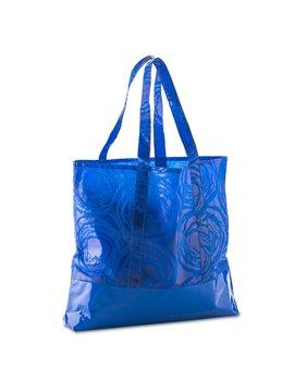 Bolsa en Cambrel Jansen Estampado y Base En PVC - Azul