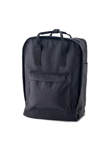 Morral Maleta Backpack Lorenz Bolsillo En Cada Lateral - Negro