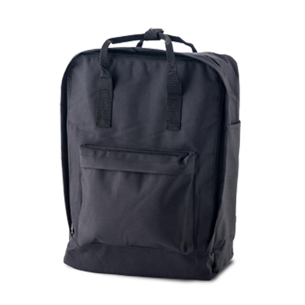 Morral Maleta Backpack Lorenz Bolsillo En Cada Lateral - Negro