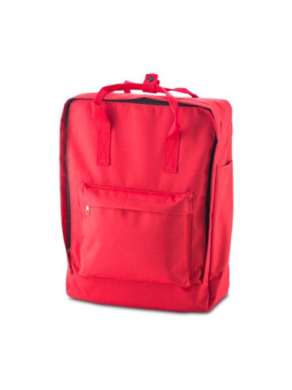 Morral Maleta Backpack Lorenz Bolsillo En Cada Lateral - Rojo