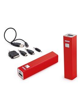 Cargador Multicharger Adaptador para iPhone iPad MP3 - Rojo
