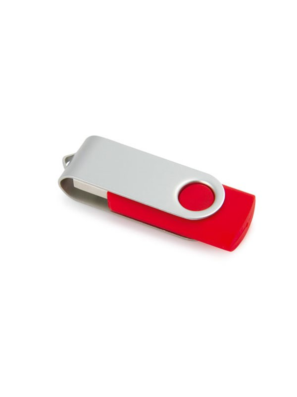 Memoria USB 4GB Slide Top con estuche - Rojo
