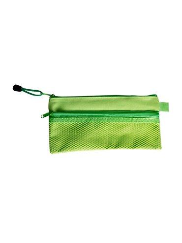 Cartuchera Multiusos Elaborada En Poliester Malla Exterior - Verde
