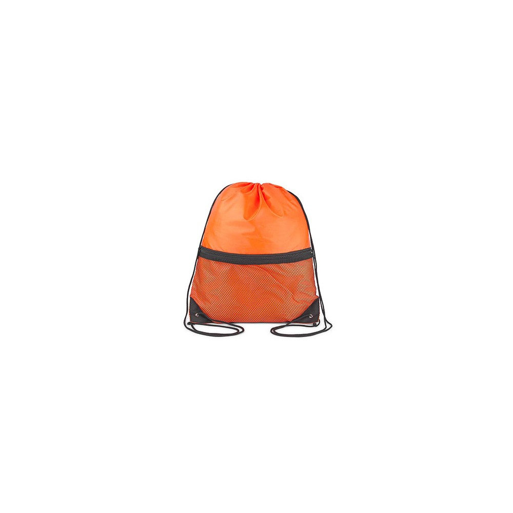 Tula Mochila London Doble Cordon Refuerzo Esquinas - Naranja