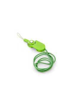 Cable Dual Locked USB iPhone Android Portacarnet - Verde Limon