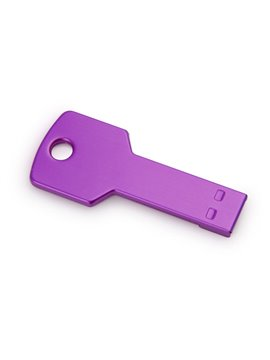 Memoria USB 4GB Key En Aluminio En Forma de Llave - Morado