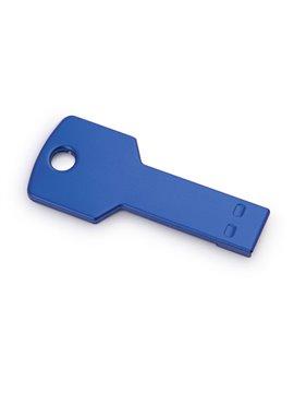 Memoria USB 4GB Key En Aluminio En Forma de Llave - Azul Rey