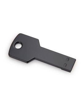 Memoria USB 4GB Key En Aluminio En Forma de Llave - Negro