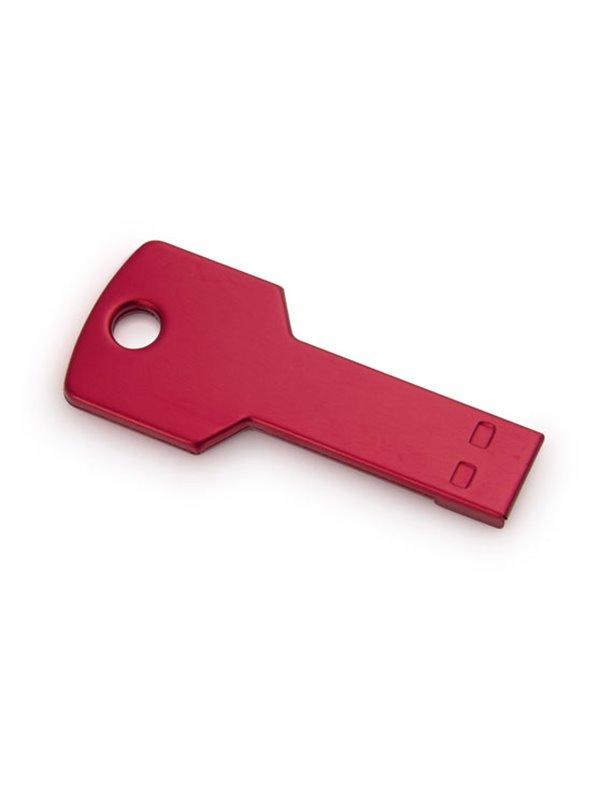 Memoria USB 4GB Key En Aluminio En Forma de Llave - Rojo