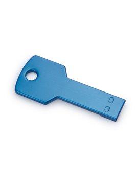 Memoria USB 4GB Key En Aluminio En Forma de Llave - Azul Claro