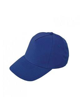 Gorra Cachucha Poliester 5 Cascos Velcro Ojetes Bordados - Azul Oscuro