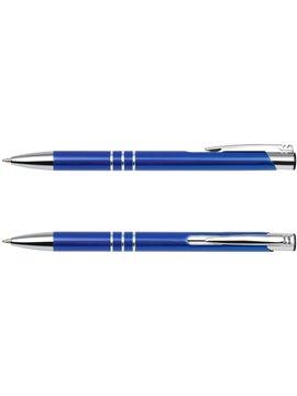 Esfero Boligrafo Patmos en Aluminio Tinta Alemana - Azul
