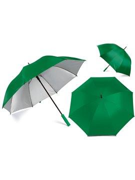 Paraguas Golf Interior Plateado 27 Pulgadas Alta Calidad - Verde