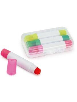Set de resaltadores Wax en barra tipo crayola No se Seca - Transparente