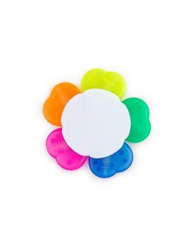 Set de 5 resaltadores gel diferentes colores forma de flor - Blanco