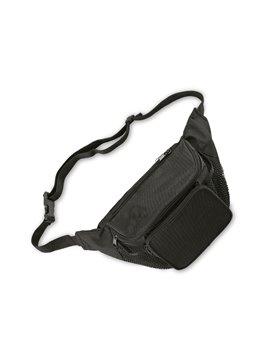 Canguro En Poliester Tres Compartimentos Bolsillos Laterales - Negro