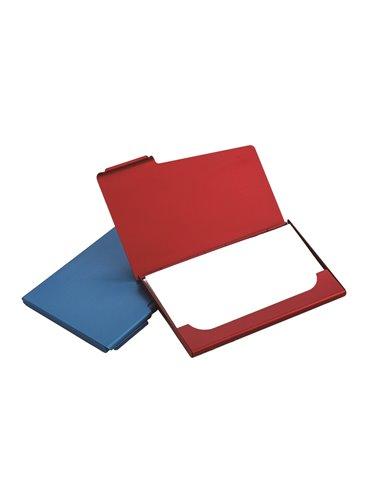 Estuche Porta Tarjetas En Aluminio Con Cierre A Presion - Rojo